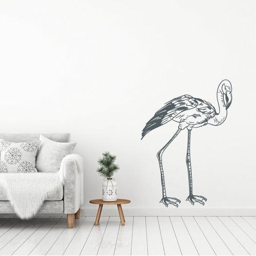Muursticker Flamingo