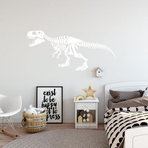 Muursticker dinosaurus skelet