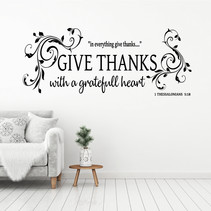Muursticker Give thanks