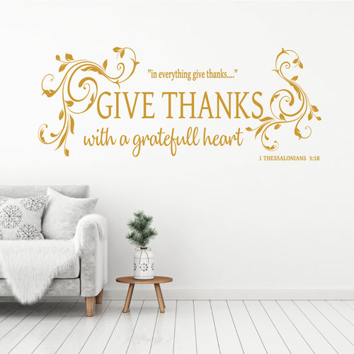 Muursticker Give thanks