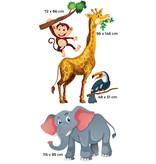 Muursticker dieren XXL