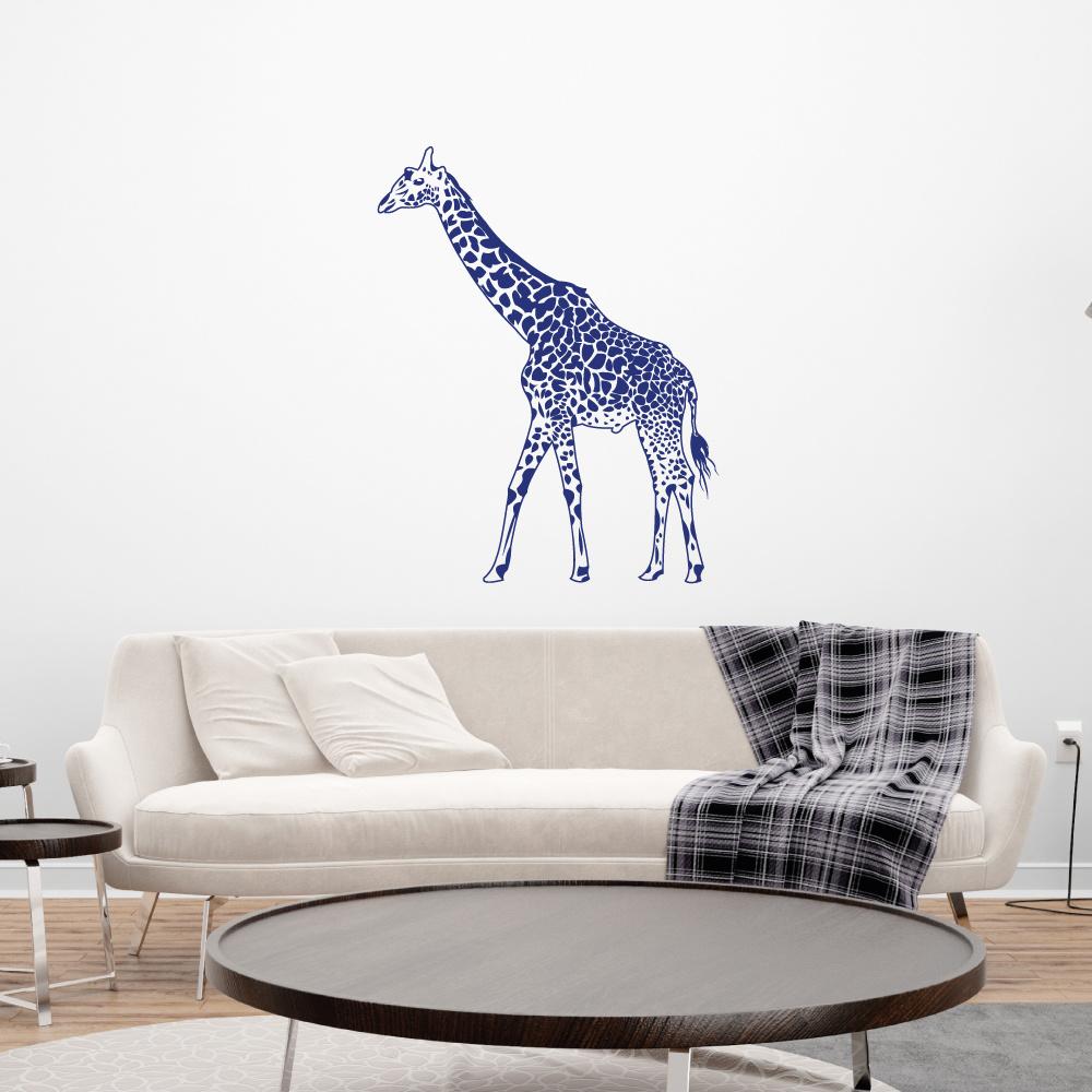 Muursticker giraffe -  slaapkamer  woonkamer  dieren