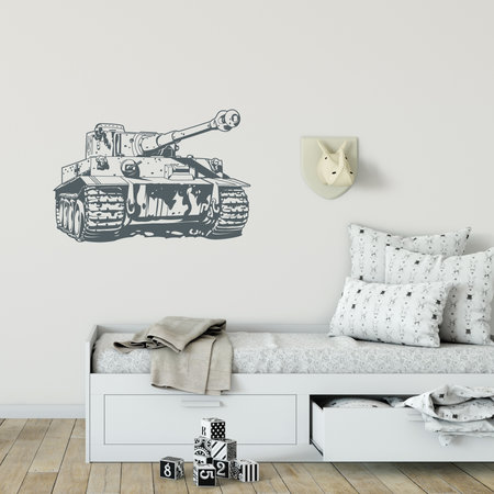 Muursticker tank