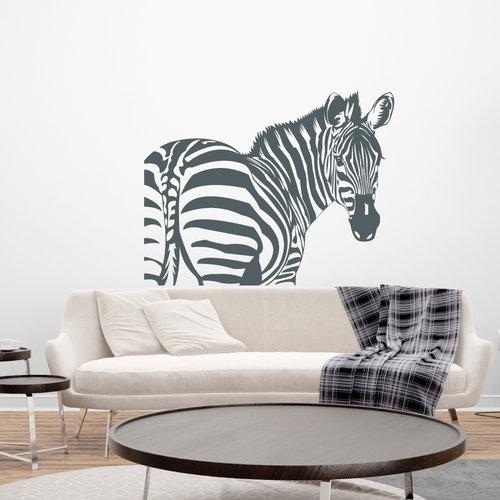 Muursticker Zebra