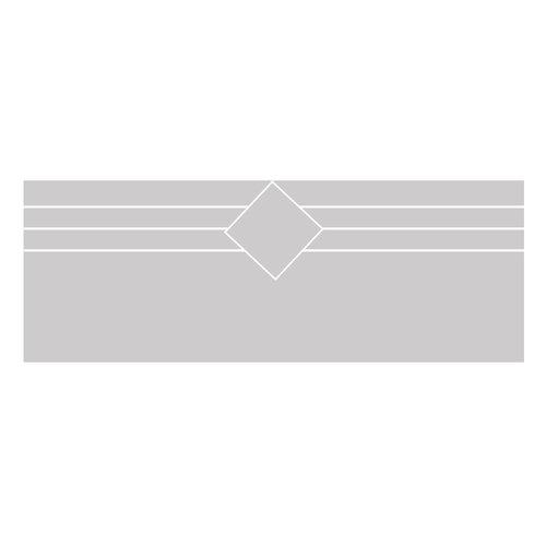 Raamfolie strepen met vierkant