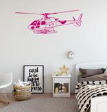Muursticker helikopter