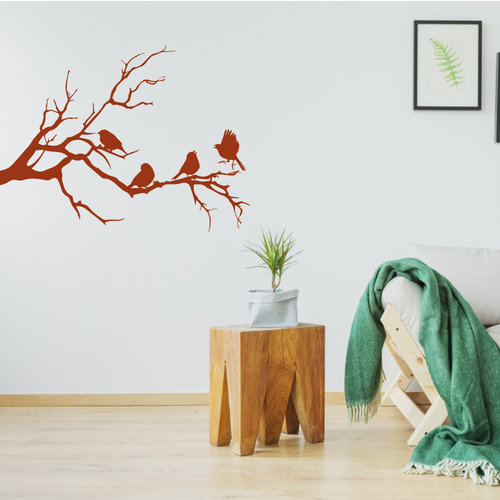Muursticker vogels op tak