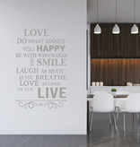 Muursticker love do what makes you happy