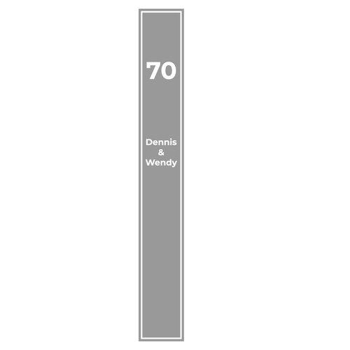 Raamfolie Kader met namen en huisnummer
