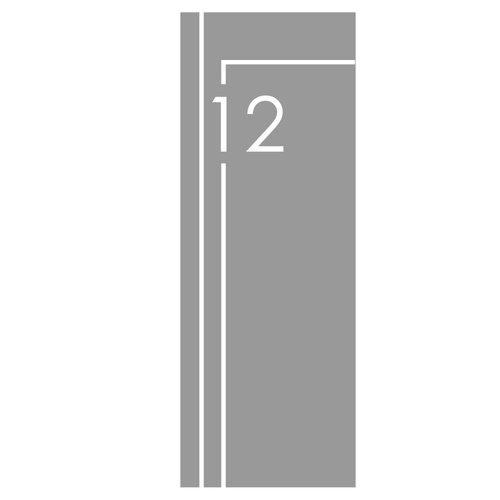 Raamfolie Huisnummer met 2 strepen