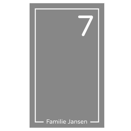 Raamfolie Achternaam en huisnummer in kader