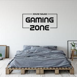 Muursticker Gaming zone met naam