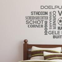 De 5 leukste voetbal muurstickers