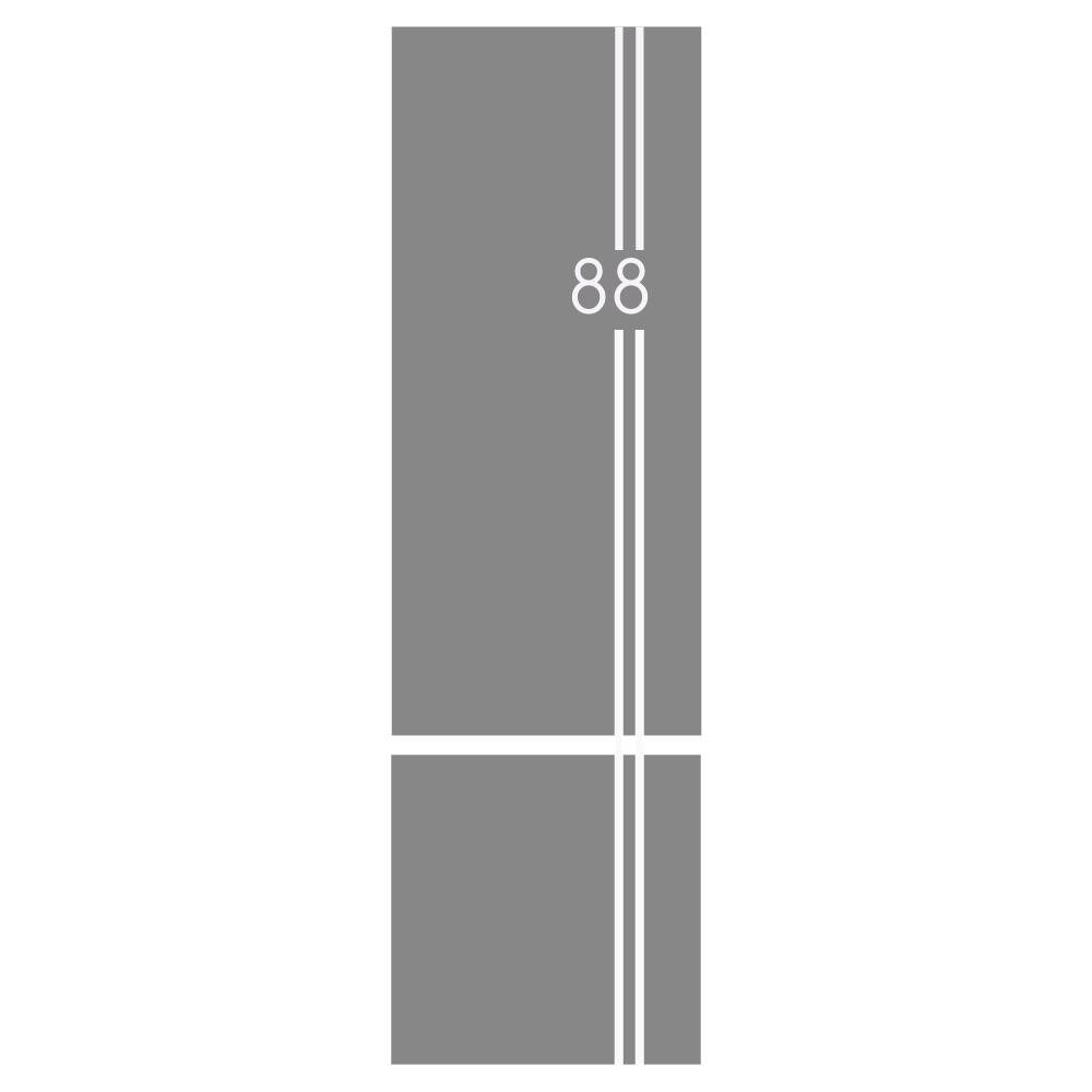 Raamfolie strepen 2 ramen - raamfolie - voordeur breed  raamfolie - voordeur folie