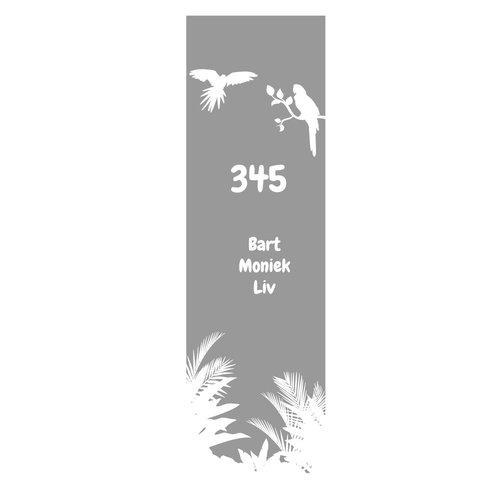 Raamfolie papegaaien met planten