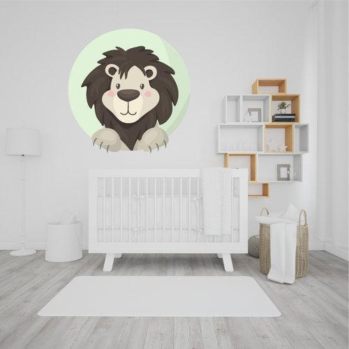 Muursticker Leeuw rond