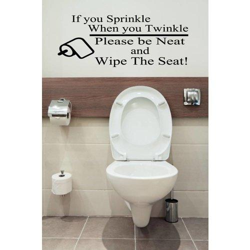 Wc sticker | if you Sprinkle