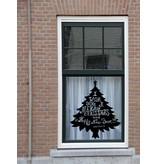 Kerstboom met tekst sticker