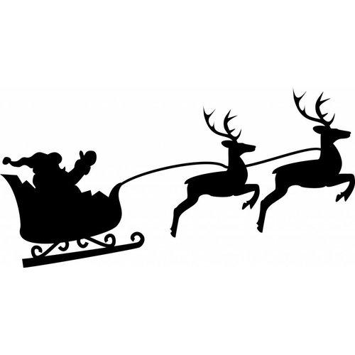 Kerstman sticker