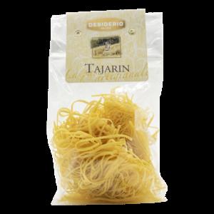 Desiderio Tajarin eierpasta, hand gemaakt. Verpakt in zak van 250 gram.
