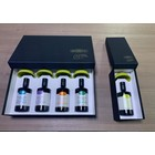 Desiderio Luxe geschenk doos met 4 flesjes monocultivar olijfolie en exclusieve porseleinen olijfolie cups