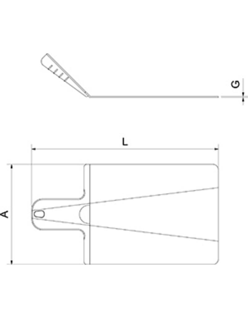 Shovel cutting board