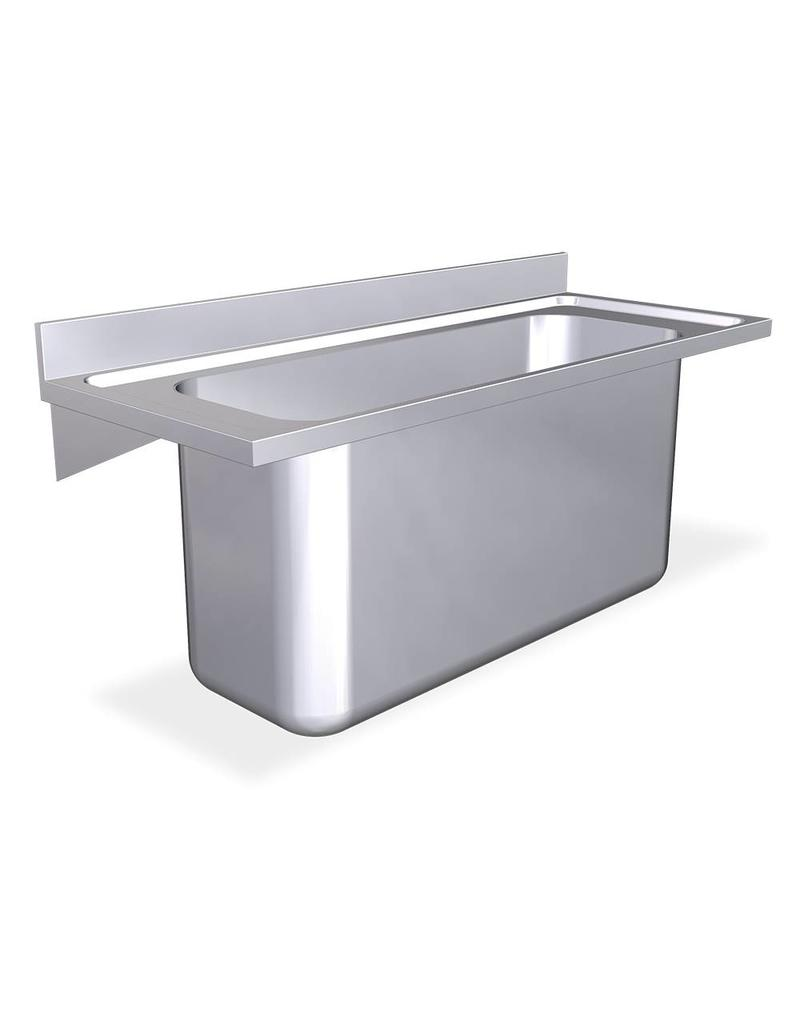 Wall mounted sink with brackets - large