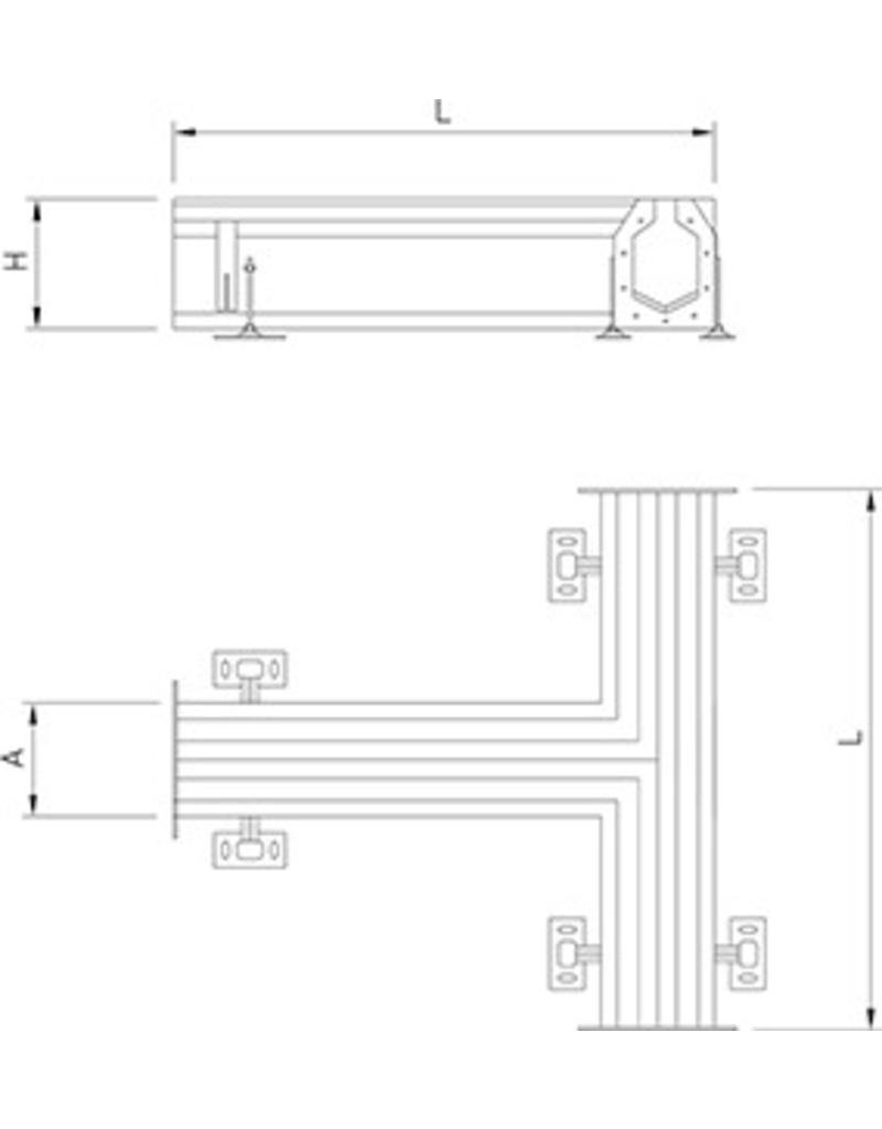 T shaped section for modular slot channel