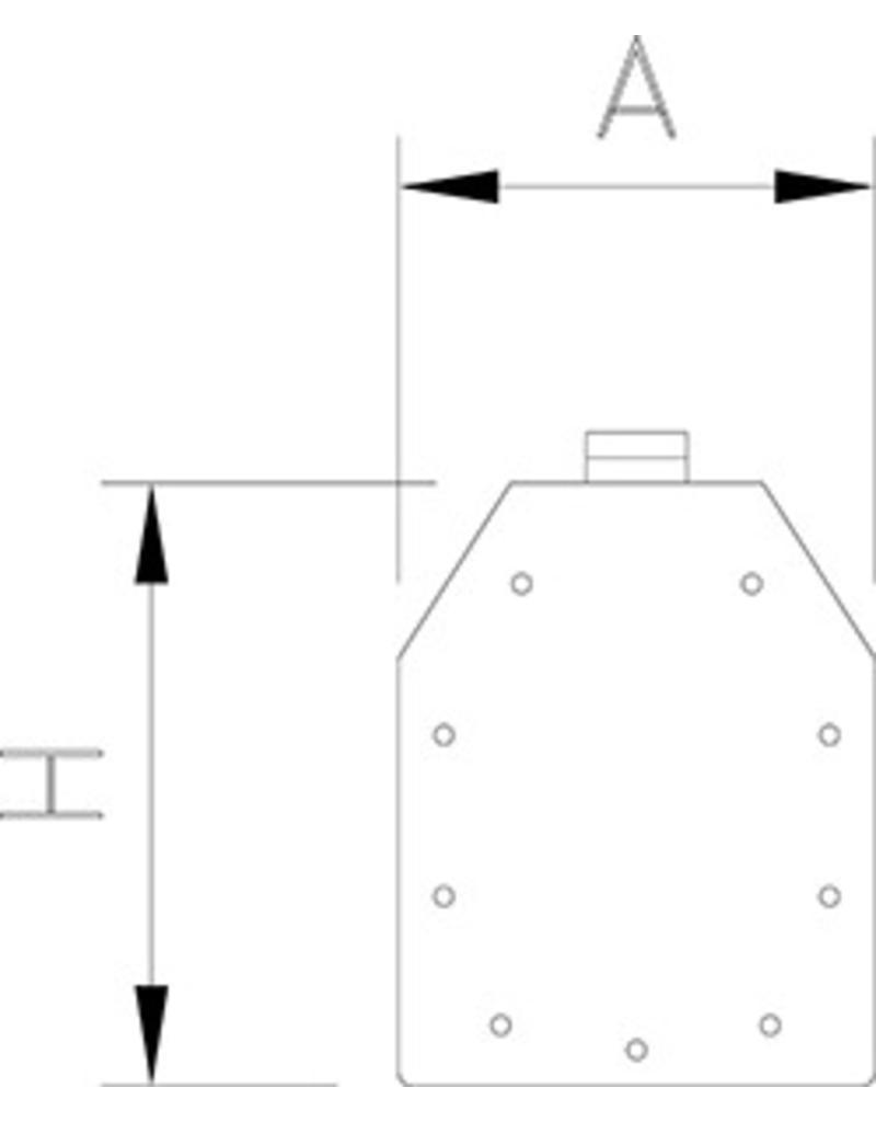 Luik voor modulair slot systeem
