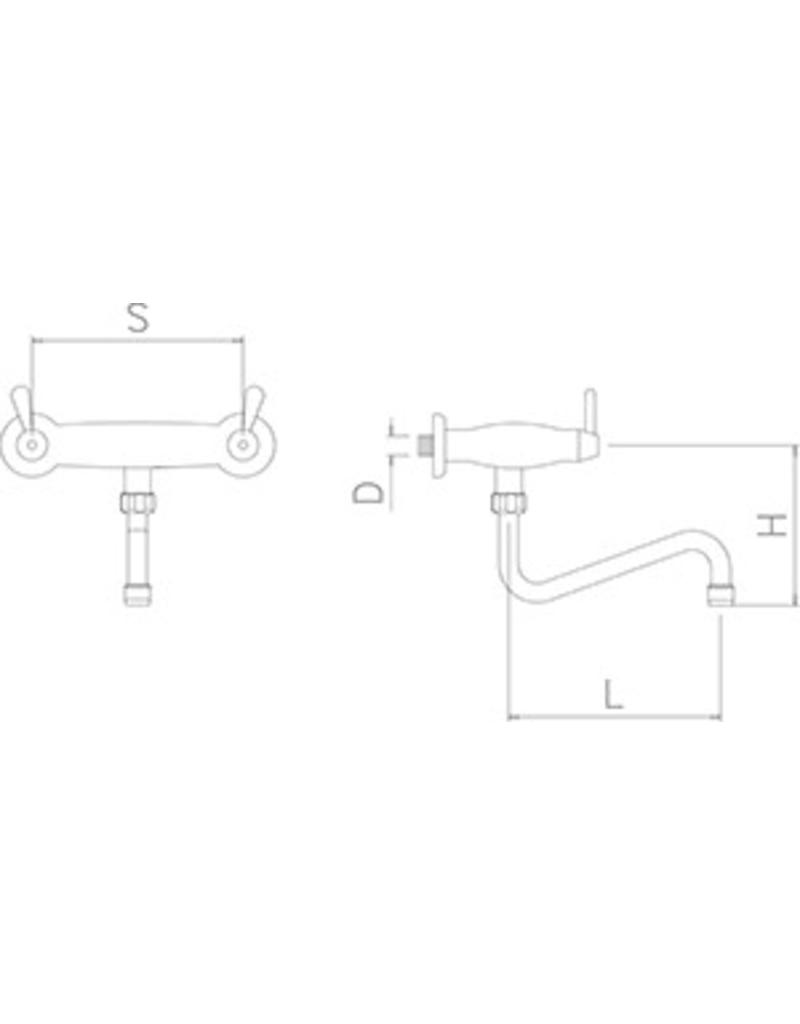 Double inlet  rotating wall tap