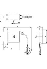 Slanghaspel in roestvrij staal