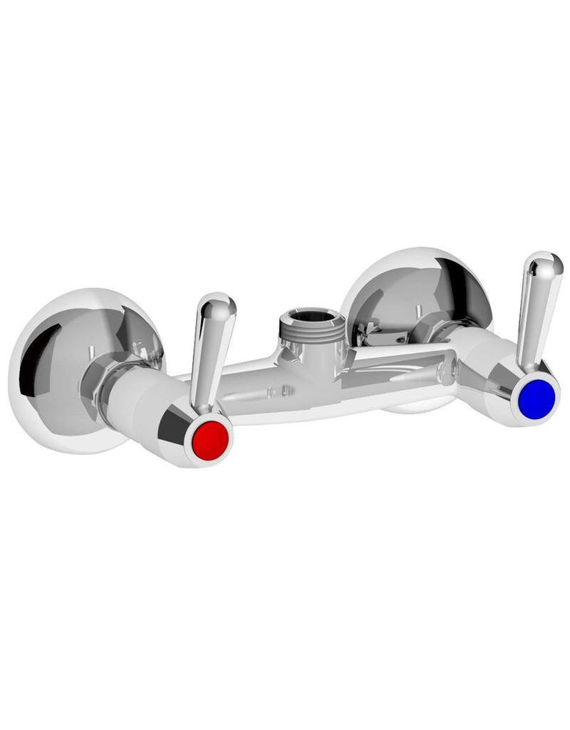 Double inlet wall-mounted valve