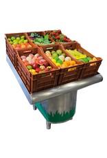Toonbank voor groenten en fruit met ondersteuning