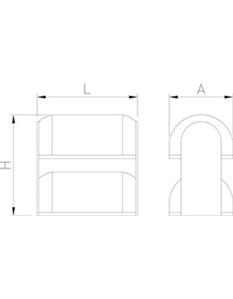 Vitrine voor gebak met twee verdiepingen