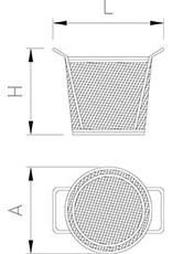 Round wire basket