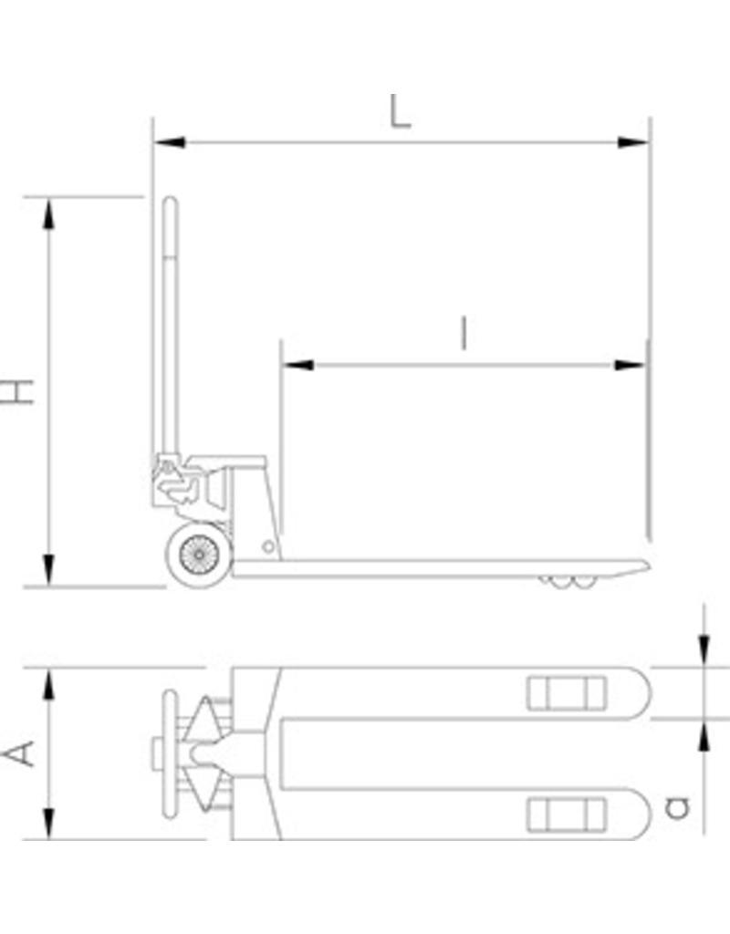 Pallet truck in steel