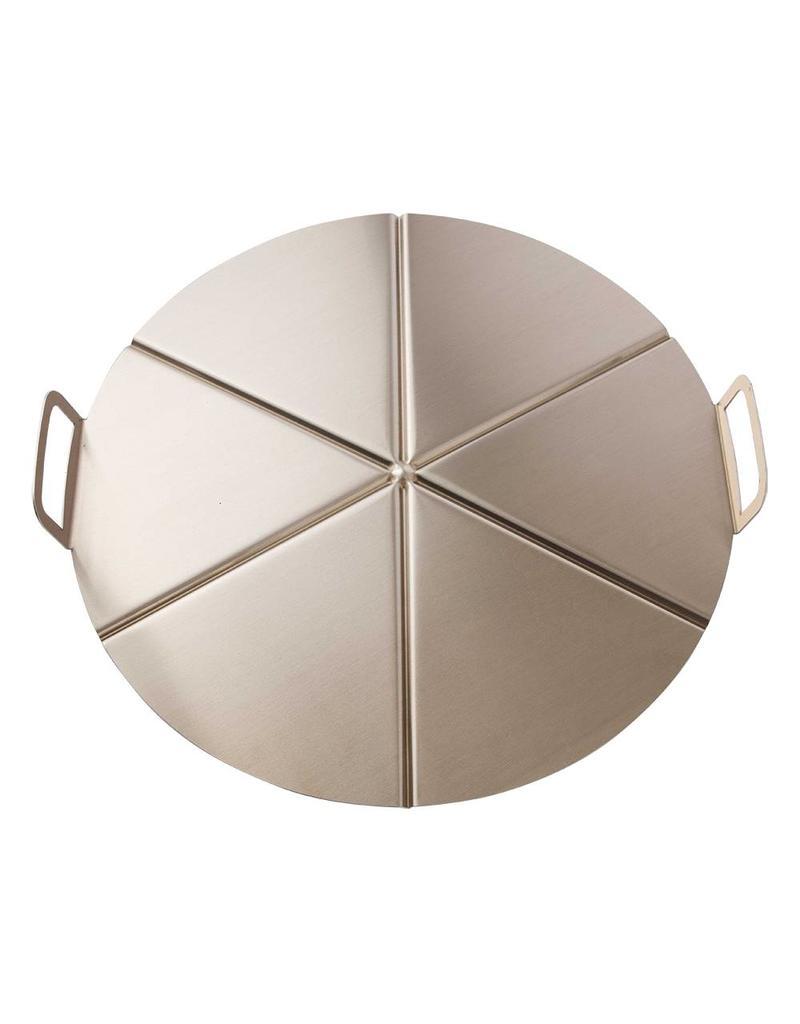 Pizza aluminium tray with handle