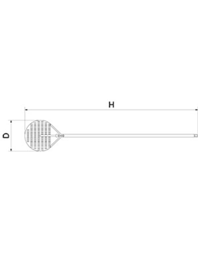 Aluminium ronde ovenschop