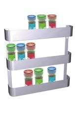 Spice rack with three levels