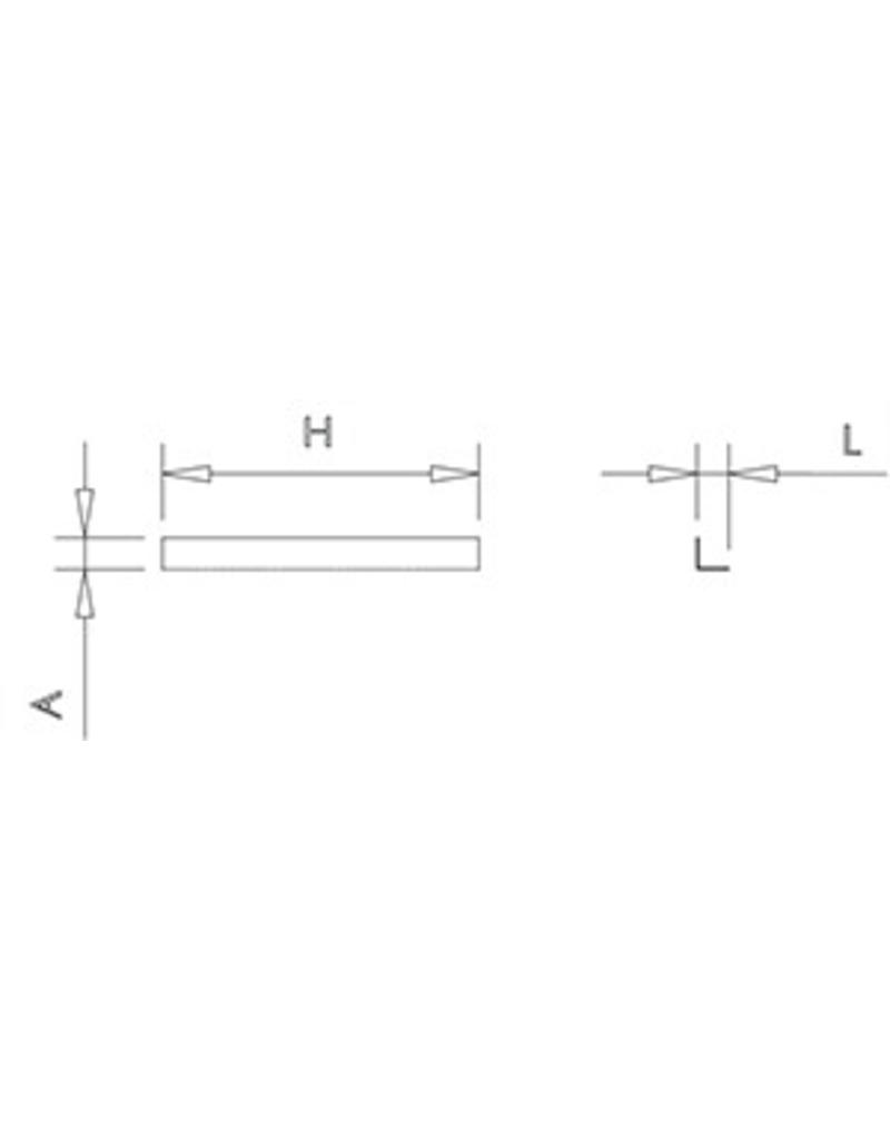Fibre bracket in stainless steel