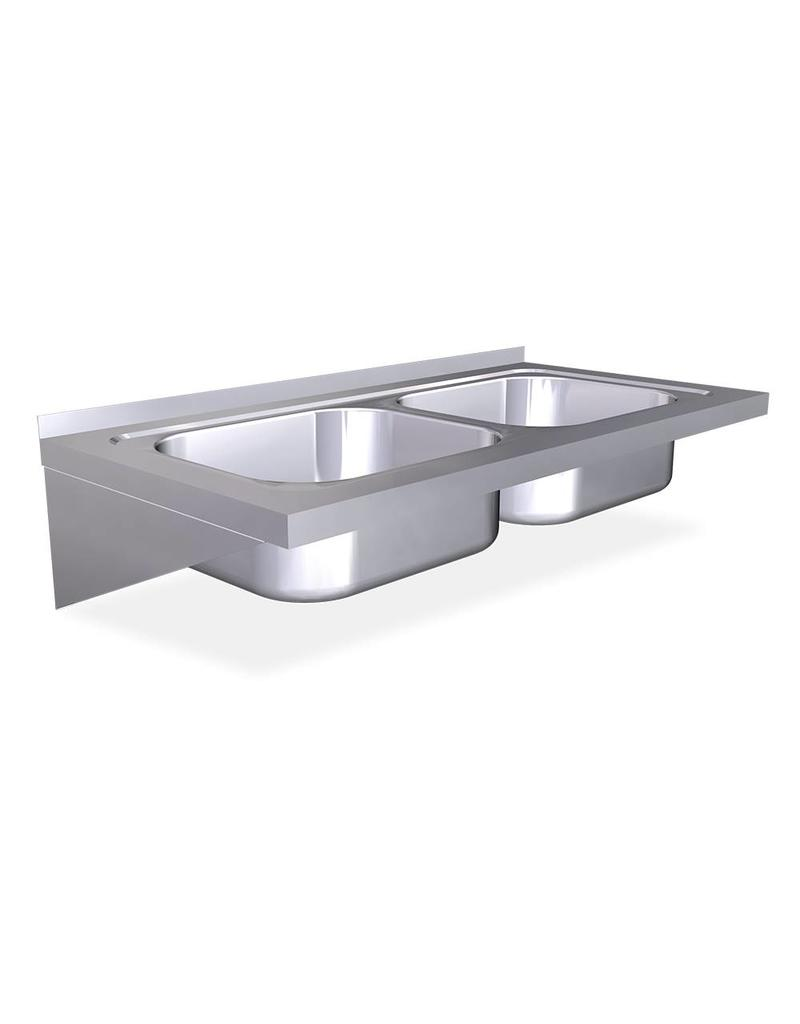 Fricosmos Wall mounted  double sink with brackets - Copy