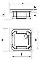 Fricosmos Dubbele wasbak met wandmontage en beugels - afdruiprek rechts
