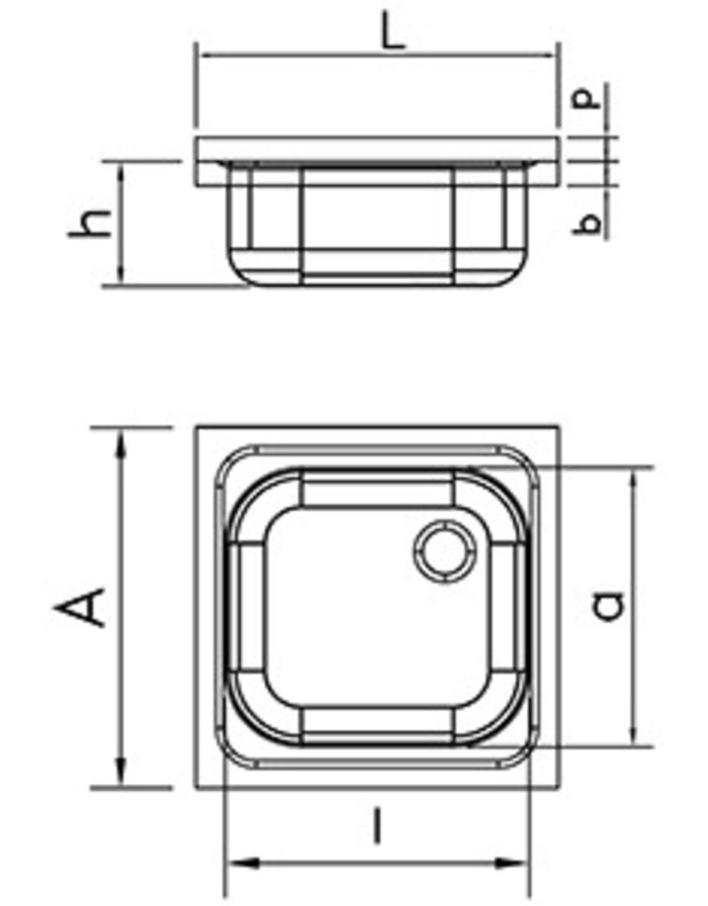 Fricosmos Dubbele wasbak met wandmontage en beugels - afdruiprek links