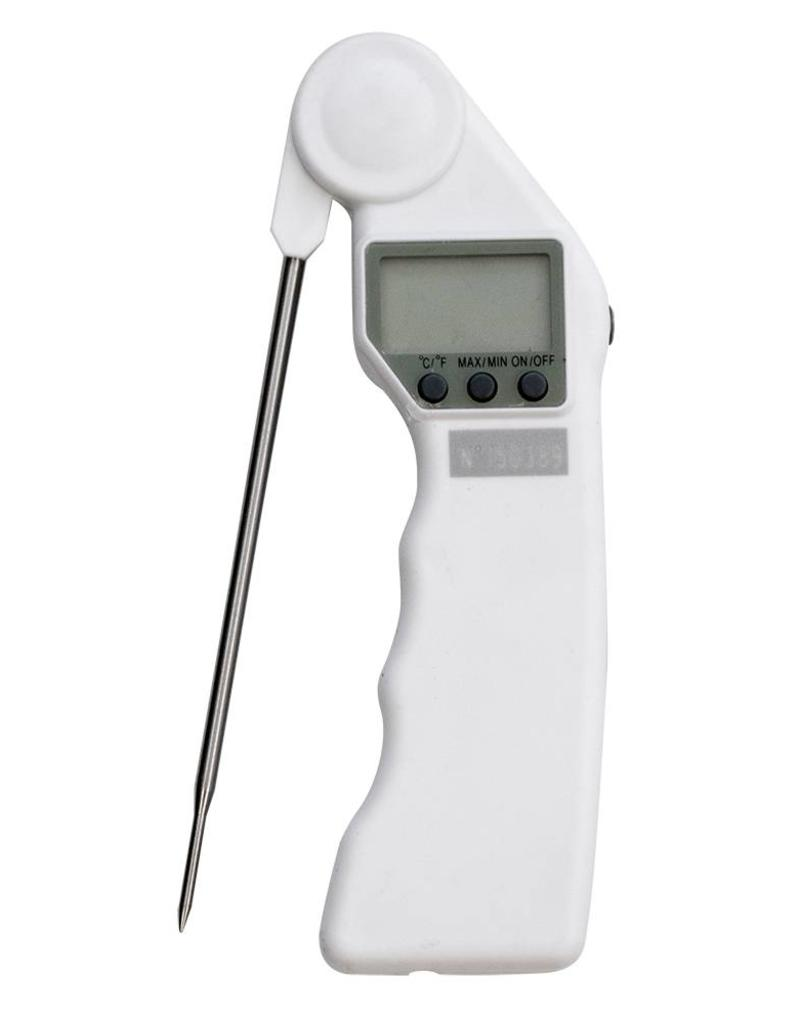 Portable thermometer with rotating probe