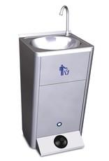 Mobile hand wash basin with integrated tanks - no backsplash