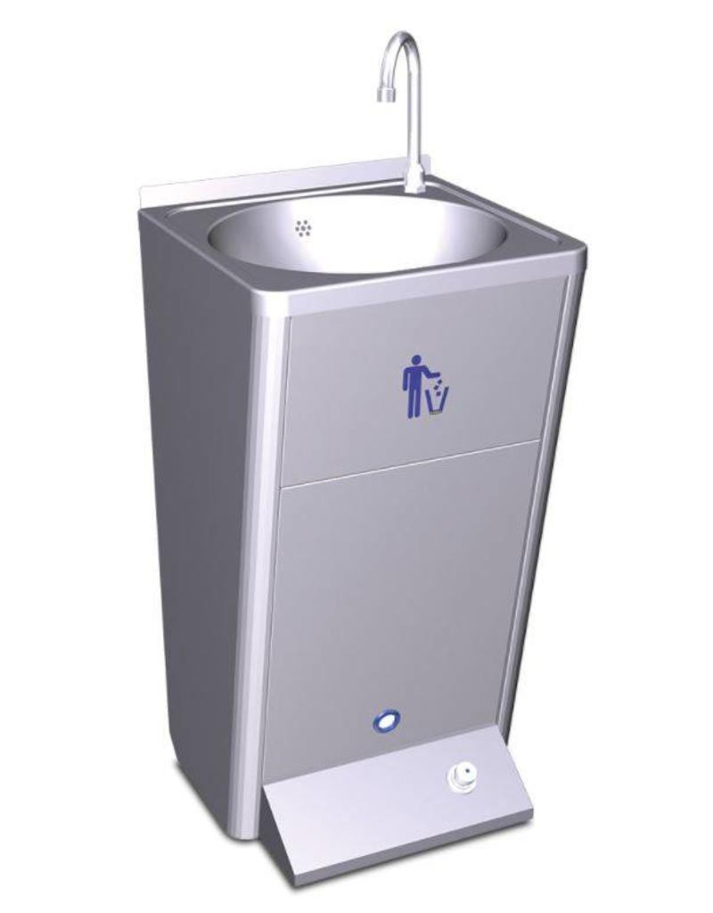 Fricosmos Mobiele wasbak met ingebouwde watertank - zonder spatplaat - koud water 220v 60w.
