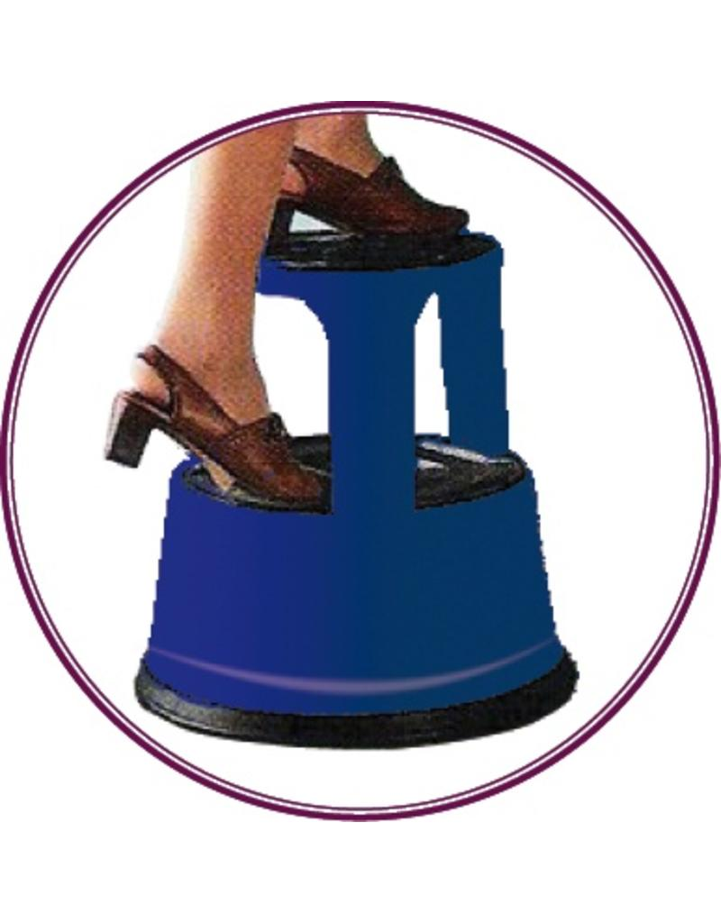 Rolling step-stool