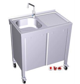 Mobile and autonomous sink with electrical system (cold water)