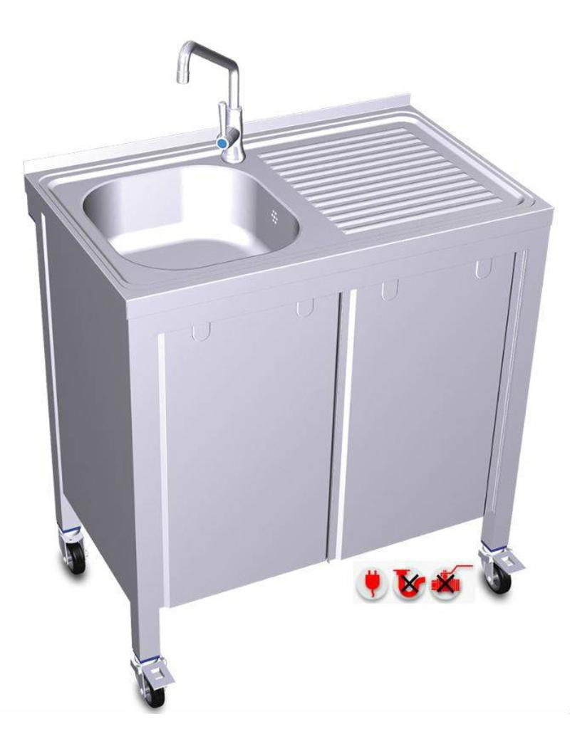 Fricosmos Mobiel en autonome  wastafel met elektrisch systeem (Pomp koud water)
