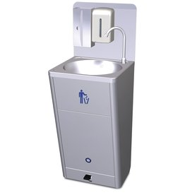 Mobile washbasin with high flow
